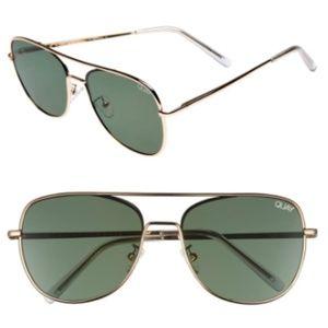 Quay Running Riot 58mm Aviator Sunglasses